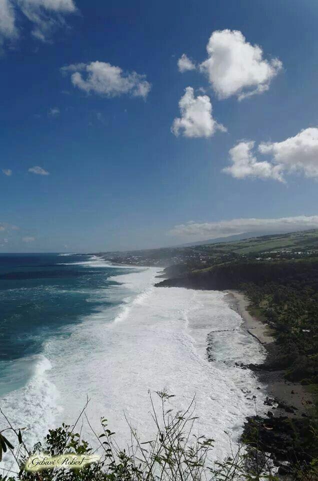 Point de vue du piton de grand anse sur la plage de grand anse