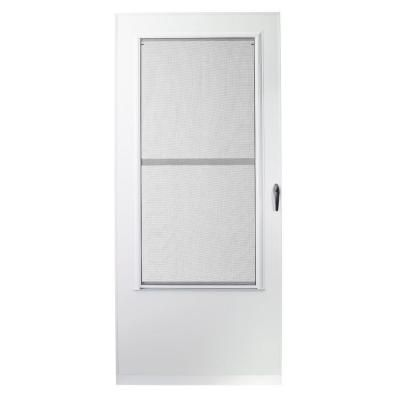 Emco 36 in x 78 in 100 series white self storing storm for Sliding storm doors home depot