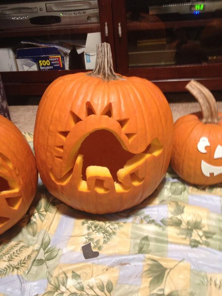 The gallery for gt easy dinosaur pumpkin carving patterns