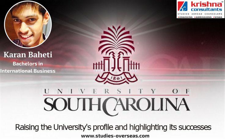 Krishna Consultants congratulates Karan Baheti for his #USA student #visa for #University of South Carolina.