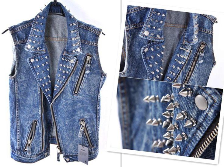2012 New Classical Punk Rivet Men's Motorbike Jeans Jacket ...