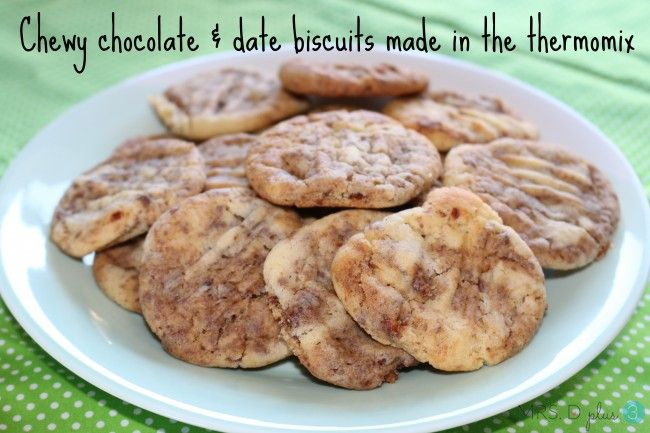 Chewy chocolate and date biscuits
