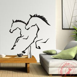 Ruining horses decal by Silhouette Design.in Adorn your wall with Silhouette Design and see the change in your decor. The most easy way to enhance your space.   mail us at:- info.silhouettedesign@gmail.com