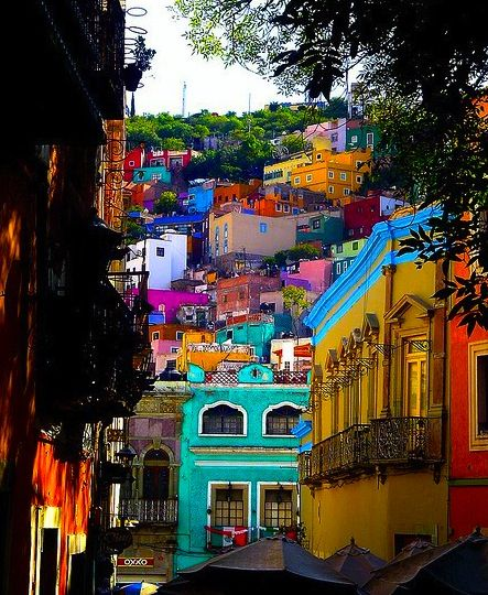 Guanajuato, Mexico. I love the architecture and color! I want to visit a place…