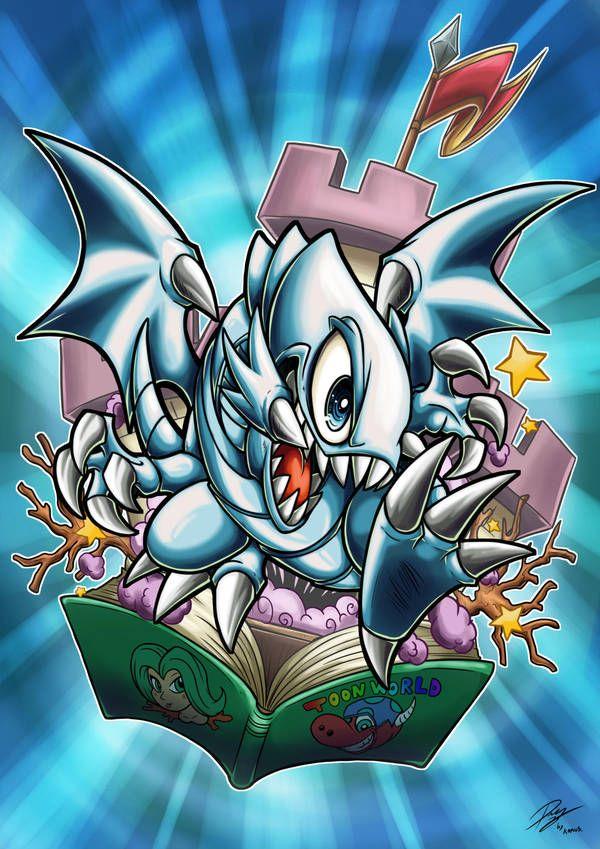 Blue Eyes Toon Dragon By Kraus Illustration Yugioh Personajes