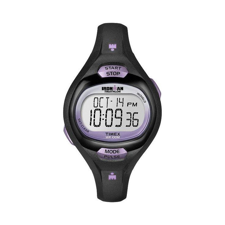 Timex Women's Ironman Triathlon Pulse Calculator Digital Chronograph Watch - T5K1879J, Black