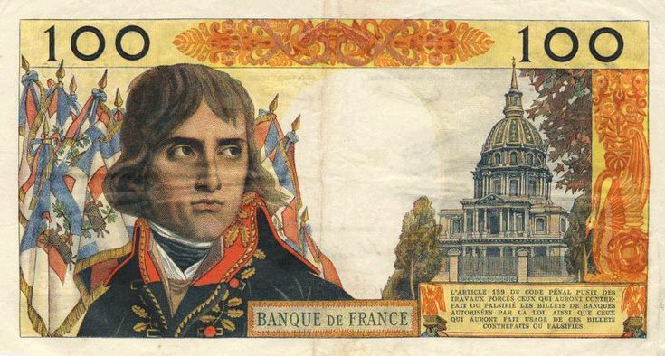 Collection Billet Banque de France - F.59 - 100 nouveaux francs Bonaparte