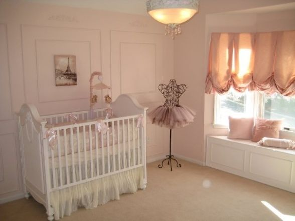 Sophias Ballerina Nursery, This is the nursery we built for our future daughter Sophia Nicole. We wanted a nursery with a little romance, a little of France and a little Ballet which combine my passion for dance and my husbands passion for travelling. Thanks for checking it out and rating it, we appreciate the feedback!, This ballerina mannequin and the crib bedding were the inspiration pieces for the nursery..., Nurseries Design