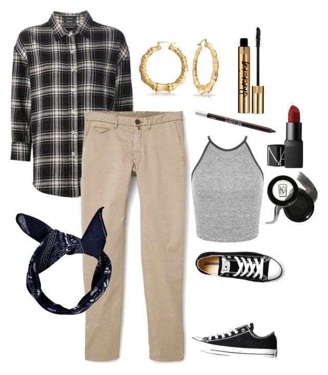 """Chola Style"" by jessahh on Polyvore featuring R13, MANGO, Converse, Bling Jewelry, Miss Selfridge, Urban Decay, NARS Cosmetics and Napoleon Perdis"