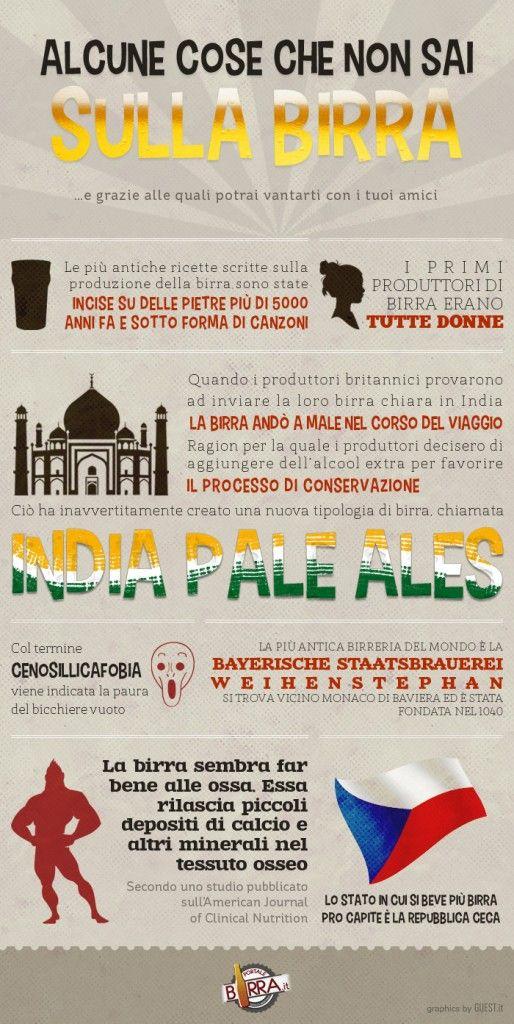 Tutto quello che non sai sulla birra...in un'infografica