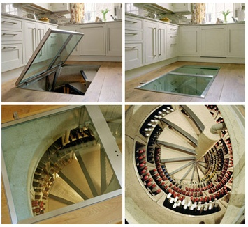 spiral wine cellar...wow!Kitchens, Ideas, Stairs, Floors, Dreams House, Glasses Doors, Wine Storage, Wine Cellars, Spirals Staircas