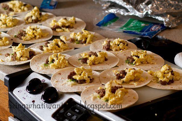 Freezer Breakfast Burritos .. Make Ahead/freeze Ahead