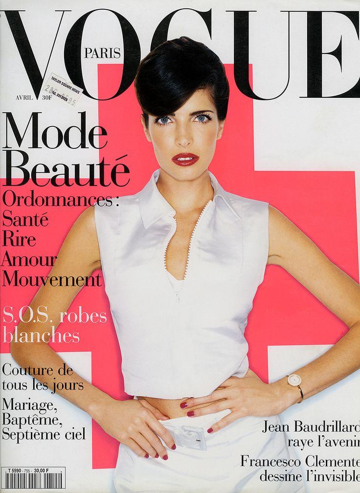 LA SEYMOUR - MARIO TESTINO    Vogue París (abril 1995)