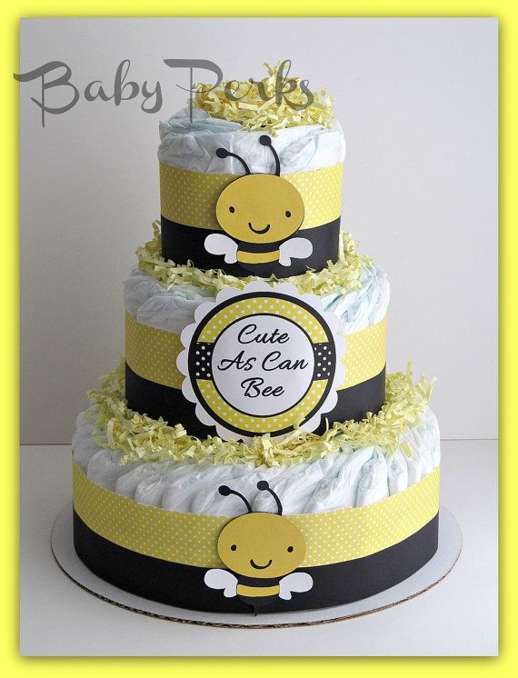 Bumble Bee  Diaper Cake , Mother to Bee Baby Shower, Baby Shower Decorations