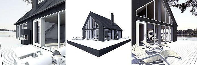 Sunhouse M2 - triptych. Architect: Jarkko Könönen.