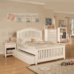 full bed with trundle for avivau0027s room crowley cream peach mission kids full panel bed