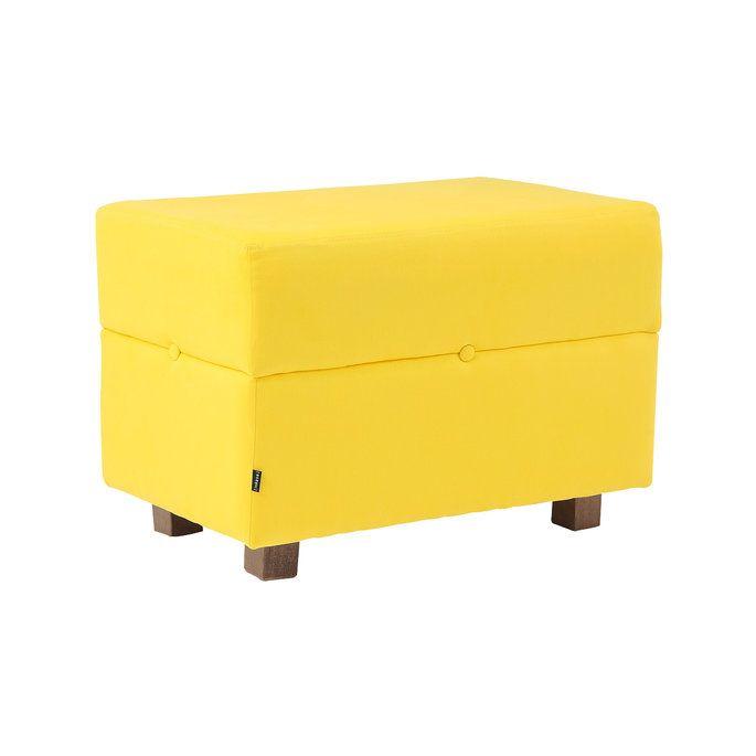 Puff Botton Retangular - Amarelo