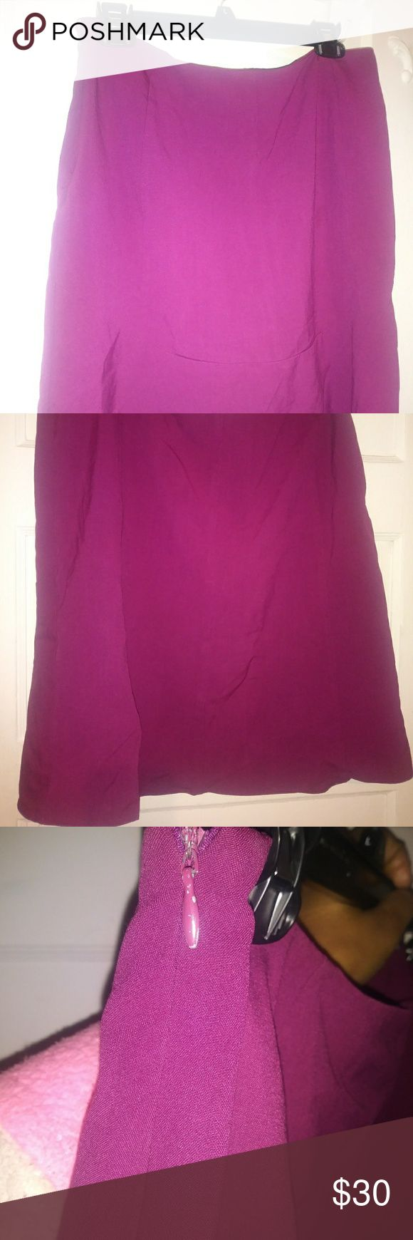 New York and Company- Dark Magenta Skirt Dark Magenta Skirt New York & Company Skirts