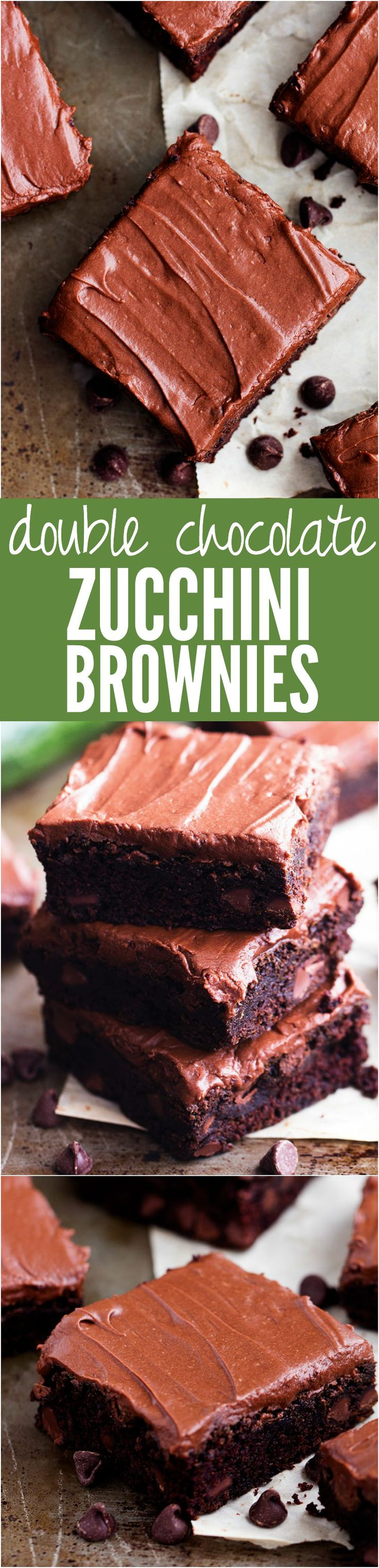 These are the BEST chocolate zucchini brownies! 2 cups of zucchini are hidden inside of these moist and perfect brownies!