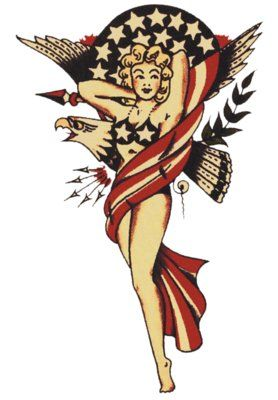 American Patriot, Sailor Jerry, T Shirt Design, Rockabilly, Psychobilly, Vulture Graffix, Tattoo Design http://vulturegraffix.onlineshirtstores.com/
