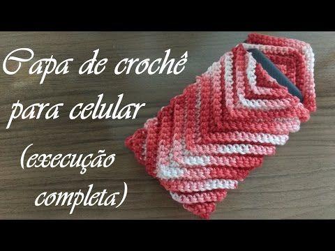 Capa (proteção) de crochê para celular ♥ Passo a passo completo ♥ Modelo 1