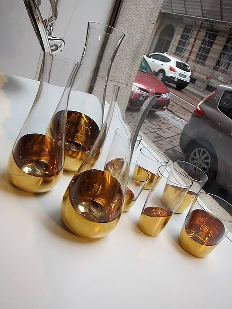 Midas carafes and glasses by Front