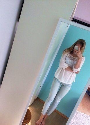 Kaufe meinen Artikel bei #Kleiderkreisel http://www.kleiderkreisel.de/damenmode/rohrenhosen/141964407-schone-hellblaue-hose-rohre-jeans