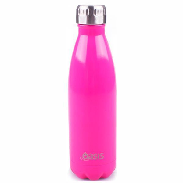 OASIS | Stainless Insulated Drink Bottle 750ml - Fluro Pink #botanex #botanexstore #outdoors #waronwaste #oasis