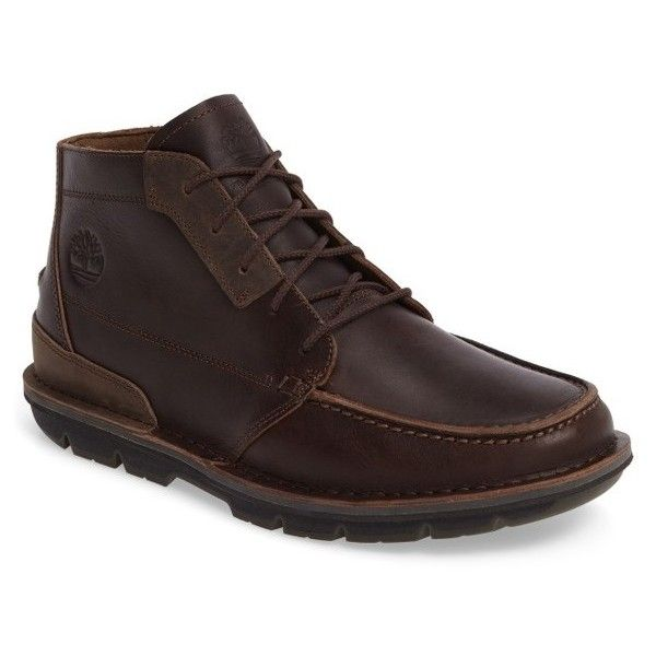 Men's Timberland Coltin Moc Toe Boot (445 BRL) ❤ liked on Polyvore featuring men's fashion, men's shoes, men's boots, dark brown leather, timberland mens boots, mens shoes, mens leather boots, mens boots and timberland mens shoes