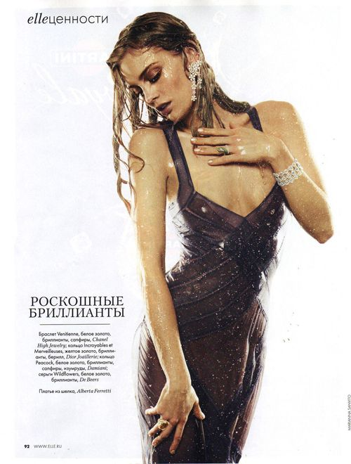 ELLE RUSSIA – MAY 2012 elle russia fashion magazine editorial albertaferretti look