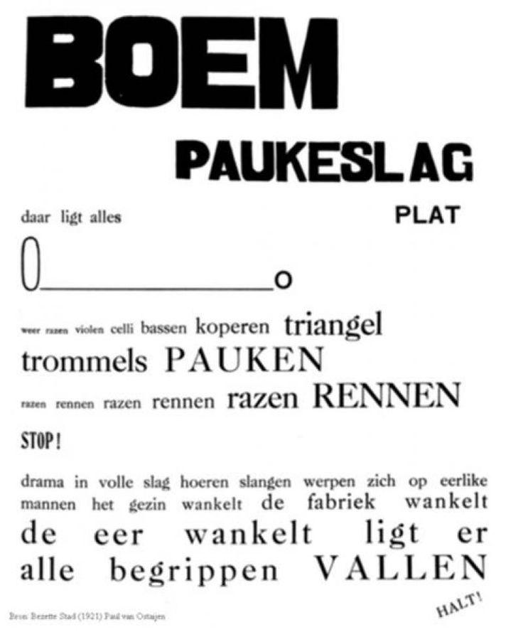 boem paukeslag 1921 Paul Van Ostaijen