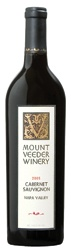 Mount Veeder Cabernet Sauvignon 2009,  Napa Valley, California, United States.  Full-bodied, complex and savoury with many intriguing aromas and flavours. This is benchmark Californian cabernet in all its glory. Aromas of blackberry, blackcurrant and cassis with some dry underbrush and herbs and smoke on the finish.  For recipe matches, price and score for this wine, visit  http://www.nataliemaclean.com/winepicks/wine/mount-veeder-cabernet-sauvignon-2009/146839