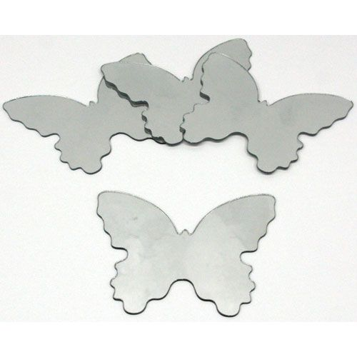 Butterfly Peel And Stick Mirror Small 4 Pieces Roommates Decor Wall Decal Wall Decor Hom