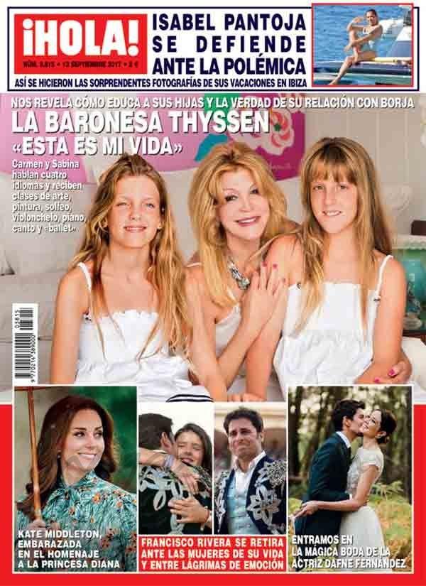 El Kiosko Rosa… 6 de septiembre de 2017: revista ¡Hola!