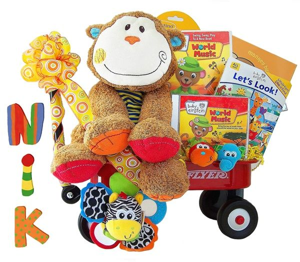 459 best baby gifts and baskets handmade in the usa images on baby einstein monkey funtime radio flyer wagon personalized negle Images