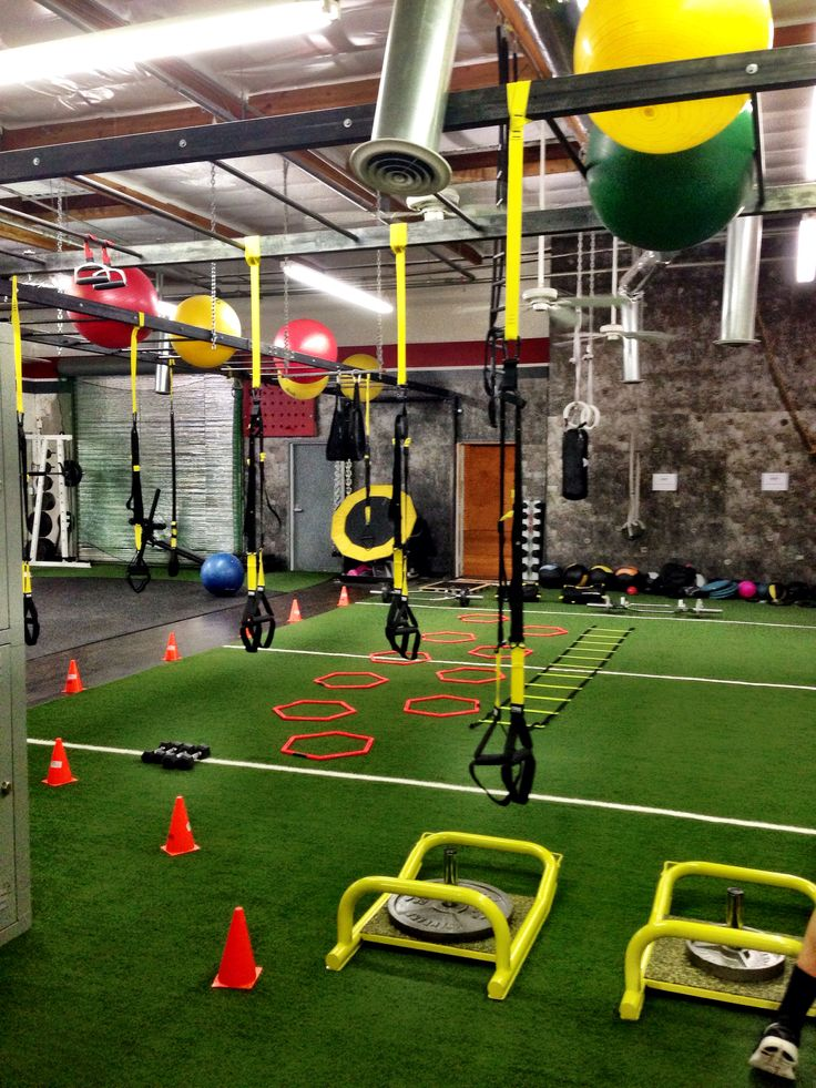 I kind of like the turf idea home gym space