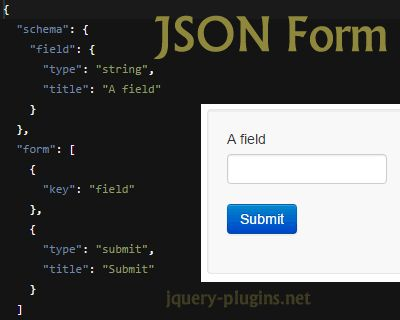 JSON Form – Javascript Library to Build Forms from JSON Schema   jQuery Plugins