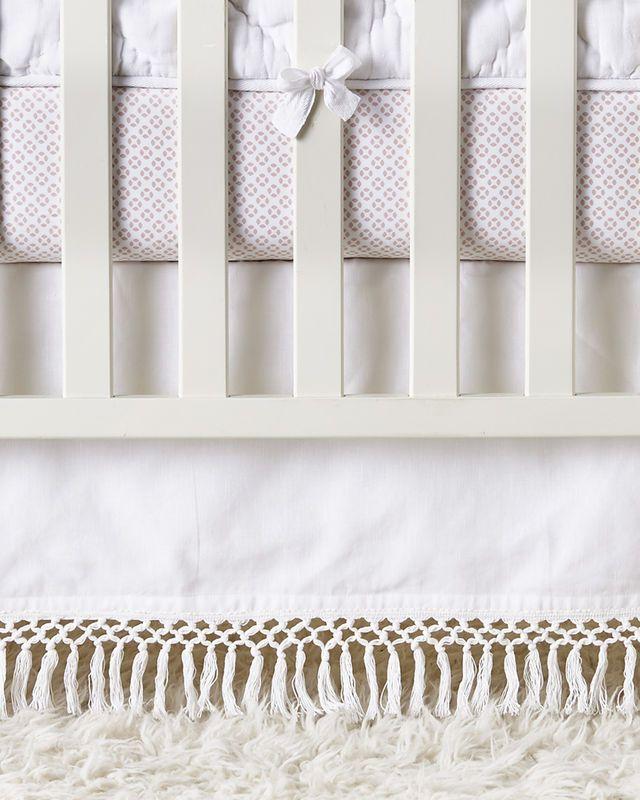 Macramé Crib Skirt - Crib Skirts | Serena and Lily