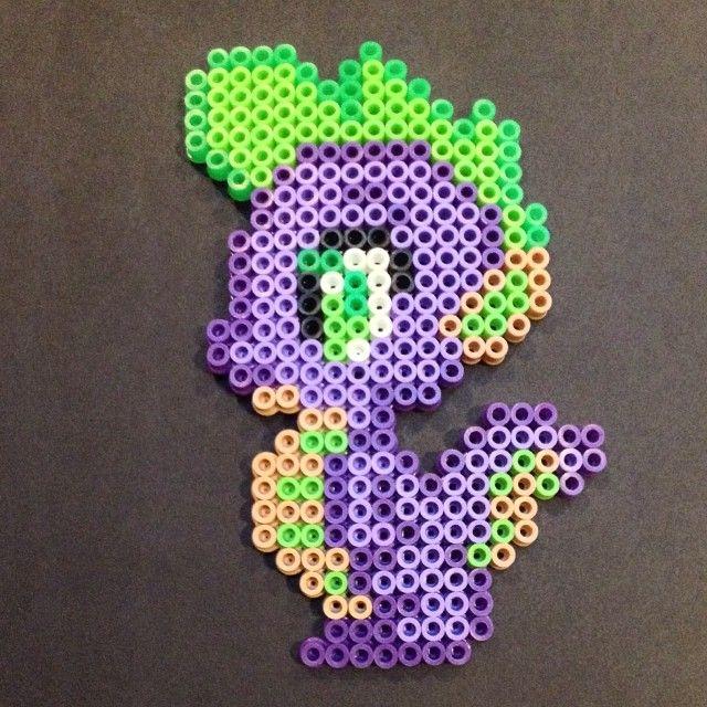 MLP Spike perler beads by spikesadragon