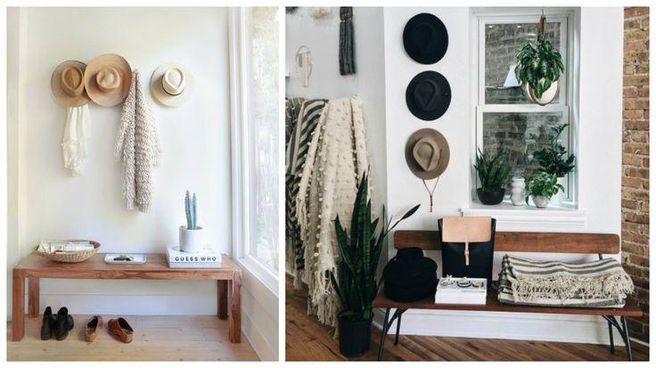 les 25 meilleures id es de la cat gorie porte chapeau sur pinterest rangement pour chapeaux. Black Bedroom Furniture Sets. Home Design Ideas