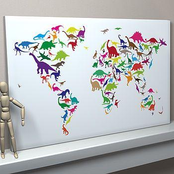 Dinosaur World Map
