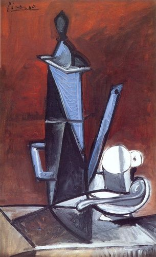 pablo picasso - the blue coffee pot (1944)