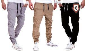 Groupon - Bas de jogging homme loose House of Trends style chino, coloris et taille au choix à 17,90€ (70% de réduction). Prix Groupon : 17,90€