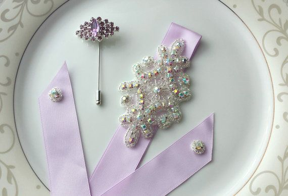 Prom CorsagePurpleProm BoutonniereProm by TheTossedBouquet on Etsy