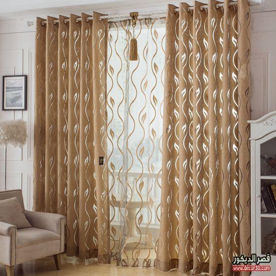 ستائر ايكيا الدانتيل فخمة للريسبشن والغرف قصر الديكور Curtain Decor Home Curtains Curtains