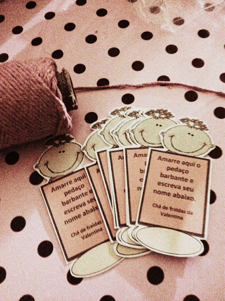 Brincadeira personalizada para chá de bebê