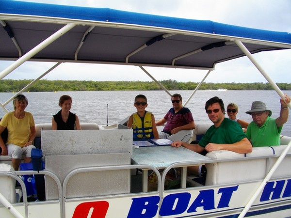 Boat rental at Noosa Heads.  Lunch BBQ.