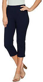 Women with Control Regular Pull-On Tushy Lifter Capri Pants