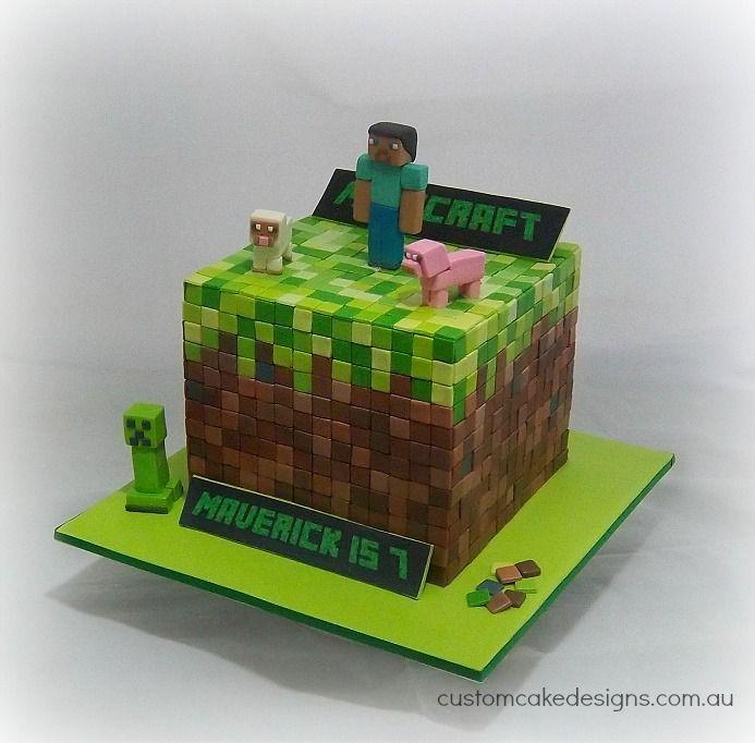 Design Of Minecraft Cake : Cool Minecraft Cake Cake Ideas Pinterest Sheep, Cool ...