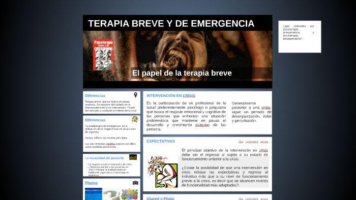TERAPIA BREVE Y DE EMERGENCIA